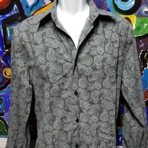 Express Dress Shirt Paisley Style Large